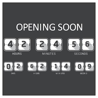 Schwarz-weiß-countdown-vorlage