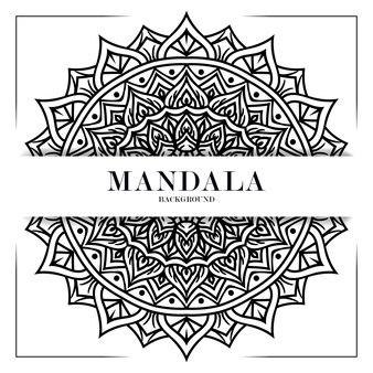 Schwarz-weiß-mandala-hintergrund-ornament-dekoration