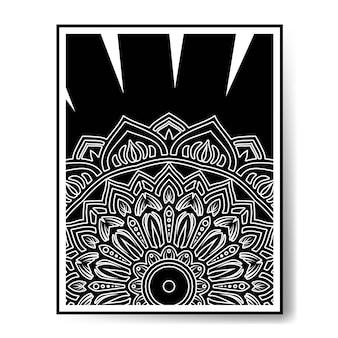 Schwarz-weiß-mandala schwarz-weiß-dekoration