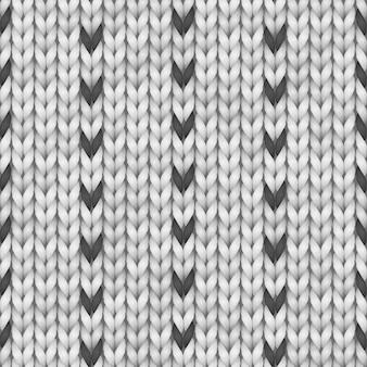 Schwarz-weiß norwegen pullover fairisle design. nahtloses strickmuster.