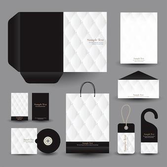 Schwarz-weiß-unternehmen geschäftsdrucksachen
