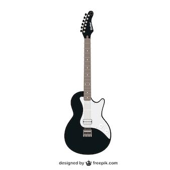 Schwarz-weiß-vektor-gitarre