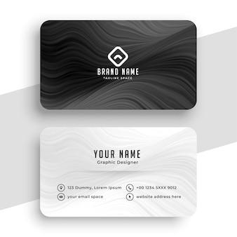 Schwarz-weiße visitenkarte für ihre marke