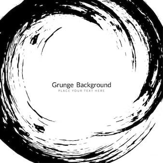 Schwarz wirbeln malstrichs grunge-hintergrund-design