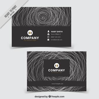 Schwarze abstrakte visitenkarte mit kritzeleien