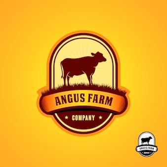 Schwarze angus logo design-vorlage