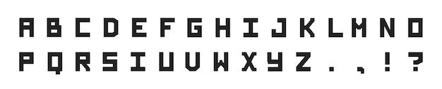 Schwarze blockige vektorschrift. dekorative schriftart für bücher, poster, postkarten, typografie. vektor.