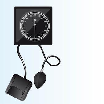 Schwarze blutdruckmessgerät