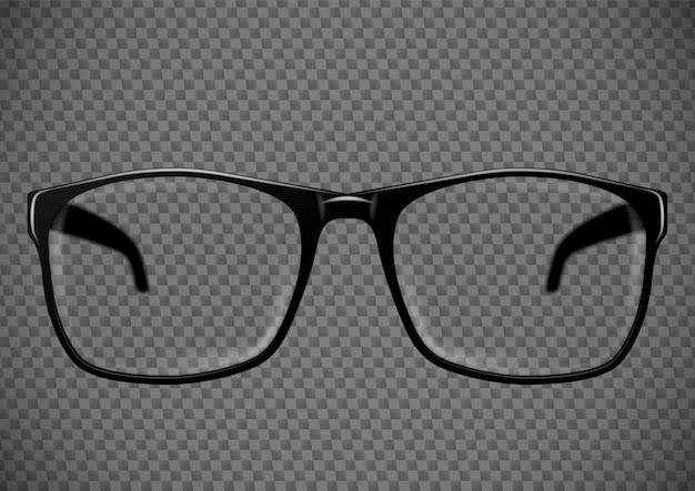 Schwarze brille. brillenillustration
