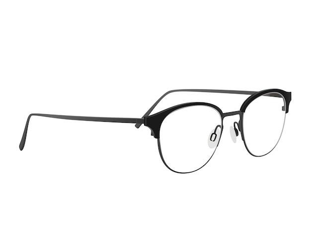 Schwarze brille mit schwarzen griffen