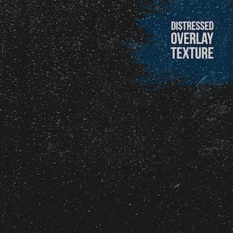 Schwarze distressed-overlay-textur aus gerissenem beton, stein oder asphalt.