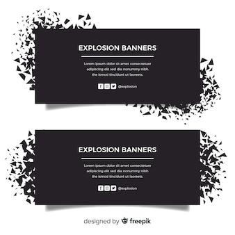 Schwarze explosion banner