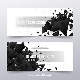 Schwarze explosionsbanner