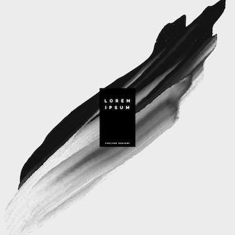 Schwarze farbe brian schlaganfall aquarell hintergrund