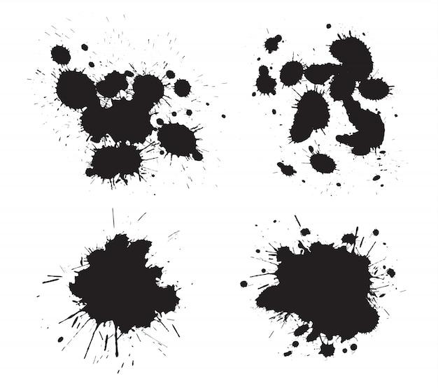 Schwarze farbe spritzt