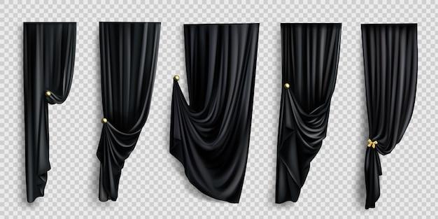 Schwarze fenstervorhänge