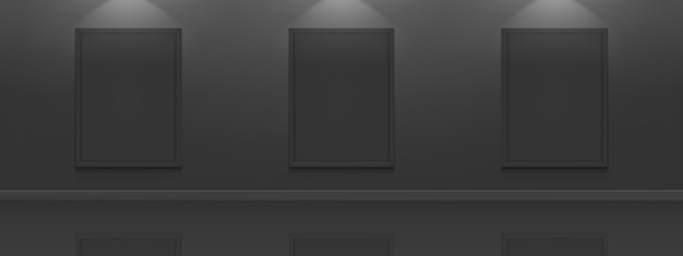 Schwarze filmplakate. weiße bilderrahmen