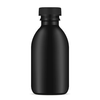 Schwarze flasche kosmetikprodukt