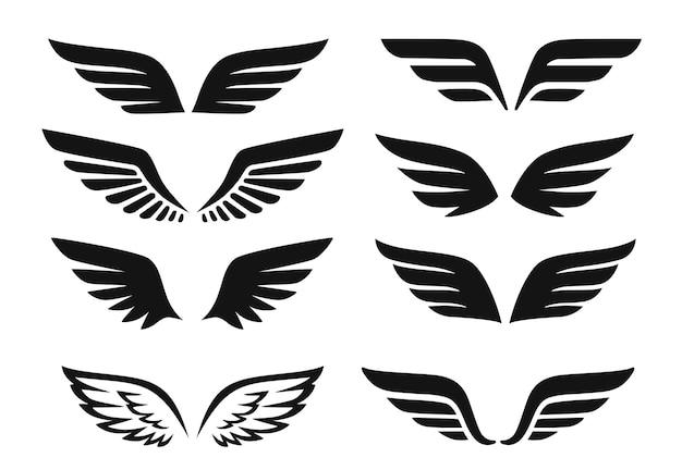 Schwarze flügelengel-kollektion