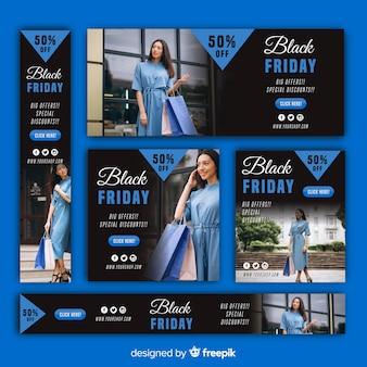 Schwarze Freitag-Websitefahnenschablone