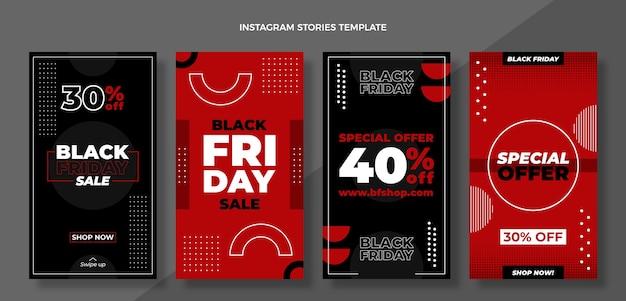 Schwarze freitagsgeschichten im flachen design