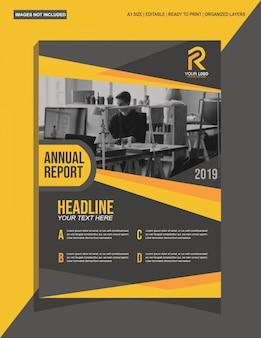 Schwarze gelbe moderne broschüre