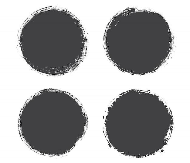 Schwarze grunge kreisrahmen