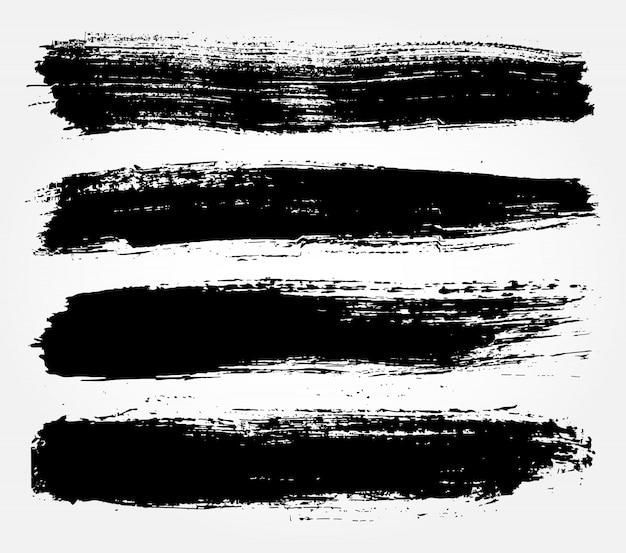 Schwarze grunge lackzeilen