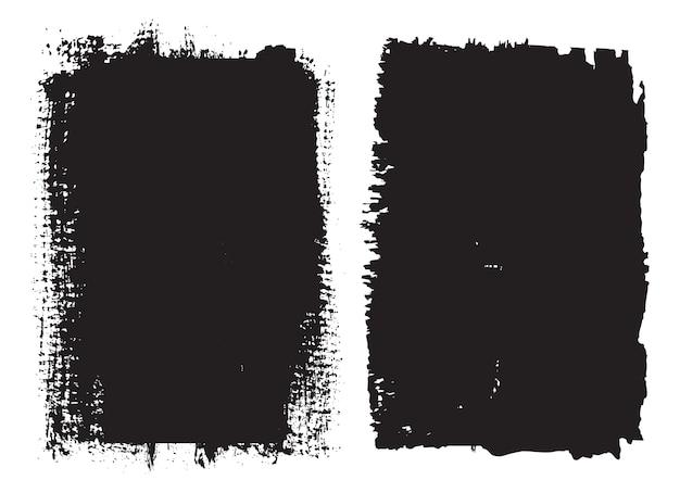 Schwarze grunge pinselstriche