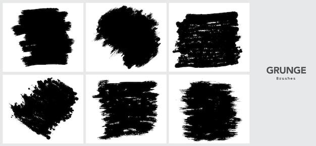 Schwarze grunge pinselstrichschablone