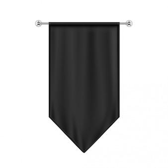 Schwarze hängende flagge