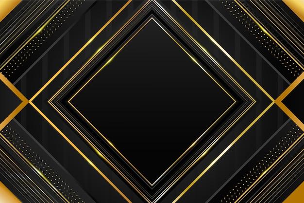 Schwarze hintergründe mit farbverlauf mit goldenen rahmen