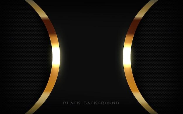 Schwarze hintergrundtexturschicht mit goldenem licht