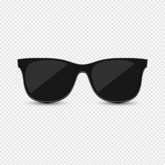 Schwarze hipster-sonnenbrille