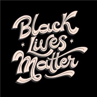 Schwarze leben materie nachricht schriftzug
