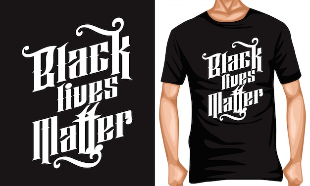 Schwarze leben materie schriftzug typografie zitate