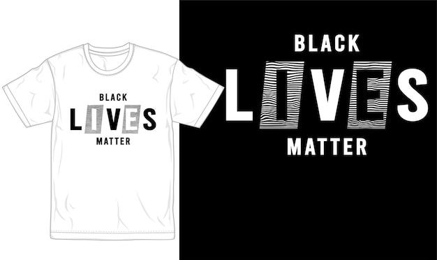 Schwarze leben materie t-shirt design grafik vektor Premium Vektoren