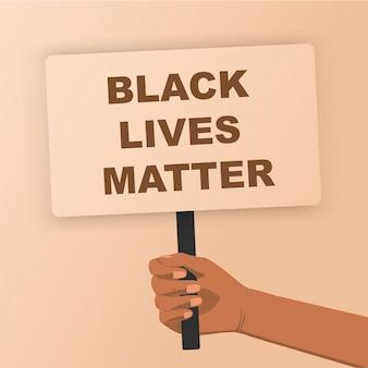 Schwarze leben sind wichtig menschenmenge, die für ihre rechte protestiert poster in den händen halten kein rassismus