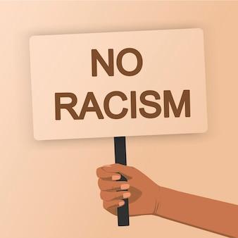Schwarze leben sind wichtig menschenmenge, die für ihre rechte protestiert poster in händen halten kein rassismus