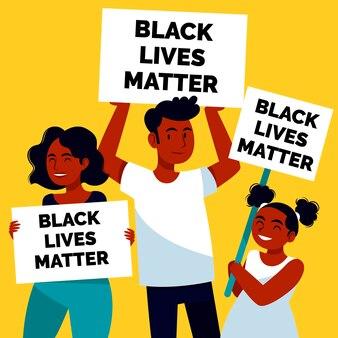 Schwarze leben sind wichtig plakate