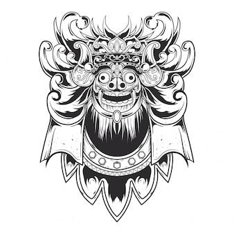 Schwarze linie barong design