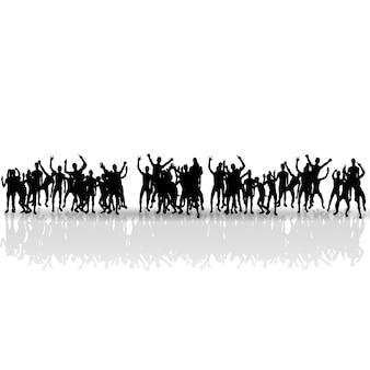Schwarze menschen silhouetten