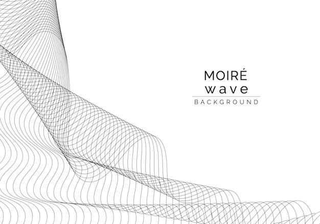 Schwarze moiré-welle auf weißem hintergrund