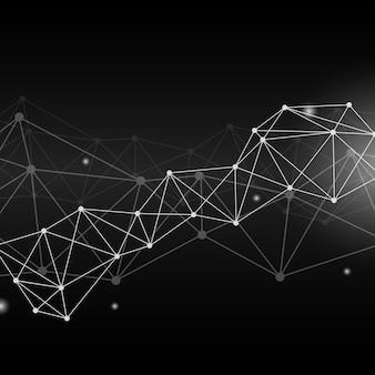 Schwarze neuronale netzillustration