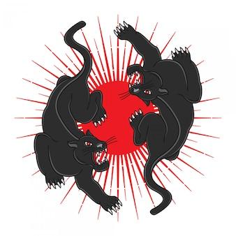 Schwarze panther-tätowierungen