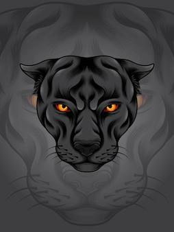 Schwarze pantherillustration