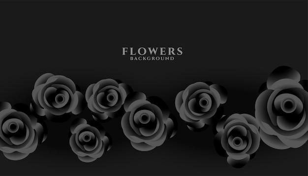 Schwarze rose auf dunklem hintergrund