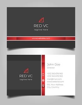 Schwarze rote steigungsvisitenkarte