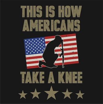 Schwarze silhouette des sitzenden amerikanischen soldaten