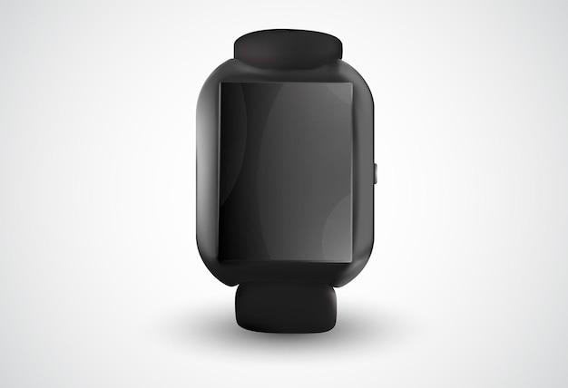 Schwarze smartwatch auf weiß